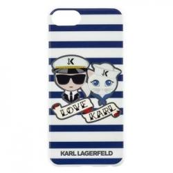 KLHCI8KSS Karl Lagerfeld Sailor Stripes TPU Case Black pro iPhone 6/6S/7/8