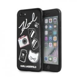 KLHCI8PIN Karl Lagerfeld Pins Hard Case Black pro iPhone 7/8