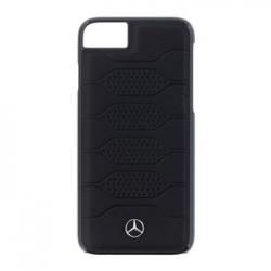 MEHCP7PGRBK Mercedes Leather Hard Case Pattern Black pro iPhone 7/8