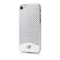 MEHCP7CACSI Mercedes Hard Case Wave V Alu Silver pro iPhone 7/8