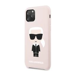 KLHCN58SLFKPI Karl Lagerfeld Silikonový Kryt pro iPhone 11 Pro Pink (EU Blister)