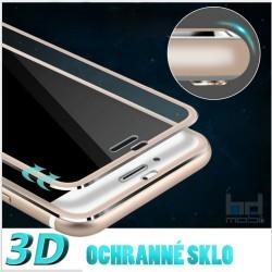 Apple iPhone 6 / 6S - 3D ochranné sklo  - farebný okraj