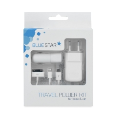 4in 1 set pre iPhone 3G/4/5/Micro USB 1.2A NEW BLUE STAR