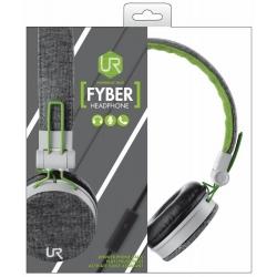 TRUST slúchadlá Fyber - šedo-zelené