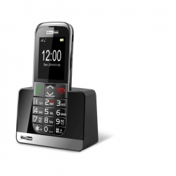 Mobilný telefón pre seniorov MAXCOM MM720, strieborný