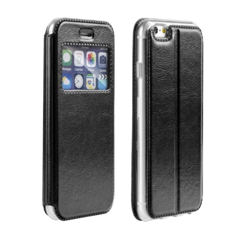 Apple iPhone 5 5S  SE - Kožené Púzdro s okienkom fb0ca70b3ec