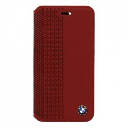 BMFLBKP6PER BMW Book Pouzdro Perforated Red pro iPhone 6/6S