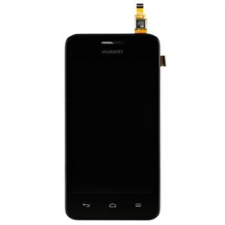 Huawei  Y330 LCD Display + Dotyková Deska + Přední Kryt Black