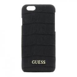 GUHCP6MCOBK Guess Shiny Croco Zadní Kryt Black pro iPhone 6/S