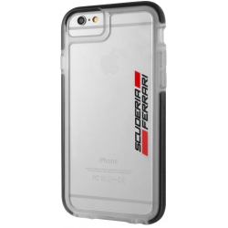 FEGL2HCP6BK Ferrari Scuderia Shockproof Hard Case Transparent/Black pro iPhone 6/6S