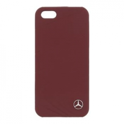 MEHCPSECLRE Mercedes Leather Hard Case Perforated Red pro iPhone 5S/SE