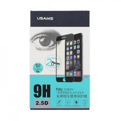 USAMS Tvrzené Sklo 2.5D 0.3mm 2ks Black pro iPhone 6/6S