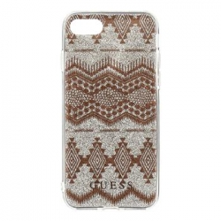 GUHCP7TGTA Guess Ethnic Chic Tribal 3D TPU Pouzdro Taupe pro iPhone 7