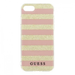 GUHCP7STGPI Guess Ethnic Chic Stripes 3D TPU Pouzdro Pink pro iPhone 7