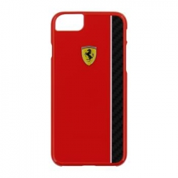 FECBSHCP7RE Ferrari Scuderia Real Carbon Hard Case Red pro iPhone 7