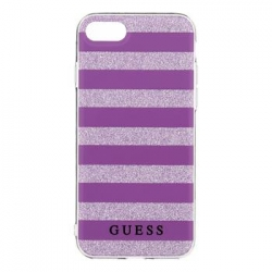 GUHCP7STGPU Guess Ethnic Chic Stripes 3D TPU Pouzdro Purple pro iPhone 7