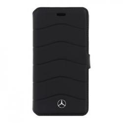 MEFLBKP7CUSBK Mercedes Book Pouzdro Wave III Black pro iPhone 7
