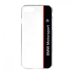 BMHCP7TVNA BMW Motorsport Blue TPU Kryt Transparent pro iPhone 7