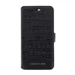 CEFLBKP7LMCBK CERRUTI Croco Book Pouzdro pro iPhone 7 Plus Black