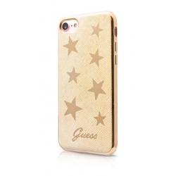 GUHCP7STABE Guess Stars Soft TPU Pouzdro Beige pro iPhone 7/8