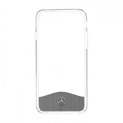 MEHCP7TRBRSI Mercedes Hard Case Wave IX Transparent/Silver pro iPhone 7
