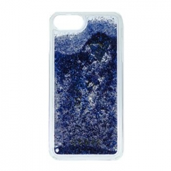 GUHCP7GLUFLBL Guess Liquid Glitter Hard Pouzdro Purple pro iPhone 6/6S/7