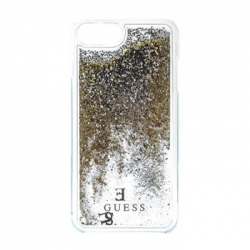 GUHCP7GLUFLGO Guess Liquid Glitter Hard Pouzdro Gold pro iPhone 6/6S/7
