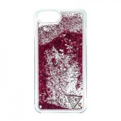 GUHCP7GLUFLRA Guess Liquid Glitter Hard Pouzdro Rapsberry pro iPhone 6/6S/7