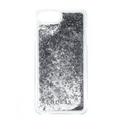 GUHCP7GLUFLSI Guess Liquid Glitter Hard Pouzdro Silver pro iPhone 6/6S/7
