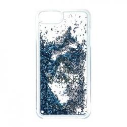 GUHCP7GLUQBL Guess Liquid Glitter Hard Pouzdro Shine Blue pro iPhone 6/6S/7