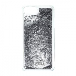 GUHCP7LGLUFLSI Guess Liquid Glitter Hard Pouzdro Silver pro iPhone 6/6S/7 Plus