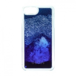 GUHCP7LGLUGRRBL Guess Liquid Glitter Hard Pouzdro Blue Degrade pro iPhone 6/6S/7 Plus