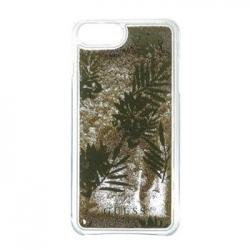 GUHCP7LGLUPRG Guess Liquid Glitter Hard Pouzdro Palm Spring Gold pro iPhone 6/6S/7 Plus