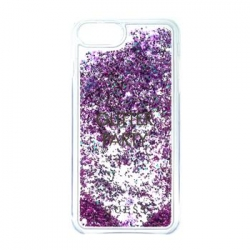 GUHCP7LGLUQPU Guess Liquid Glitter Hard Pouzdro Party Purple pro iPhone 6/6S/7 Plus