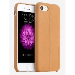 USAMS Joe Zadní Kožený Kryt Light Brown pro iPhone 6/6S Plus