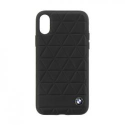 BMHCPXHEXBK BMW Hexagon Leather Hard Case Black pro iPhone X